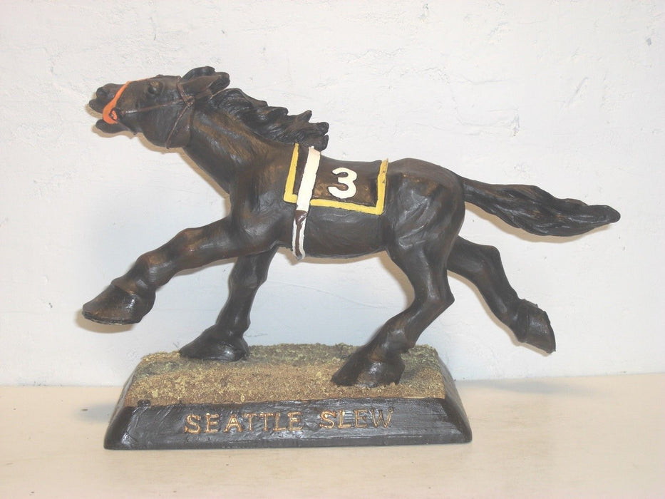 Seattle Slew  Made in 2003 to celebrate the Triple Crown Bobblehead EQU
