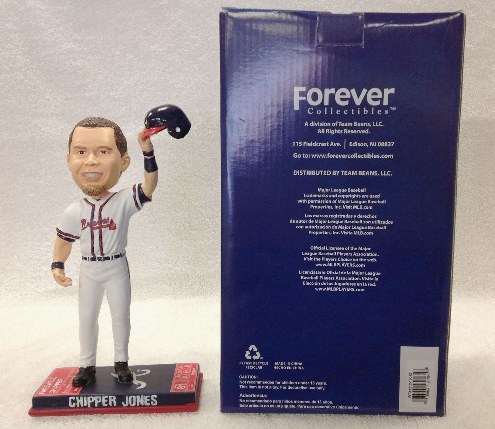 Chipper Jones Atlanta Braves Farewell Bobblehead MLB