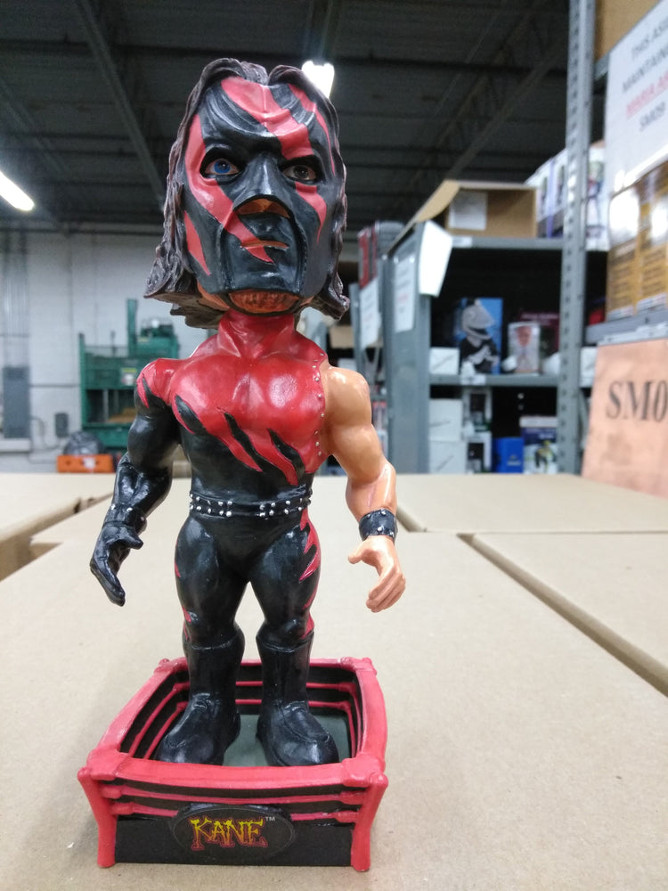 Kane Man WWE/ WWF Full Size, Heavy Resin/ Ceramic Bobblehead WWE