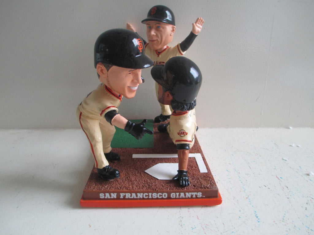 Pagan Flannery & Scutaro Giants TRIPLE Bobble FOCO Bobblehead