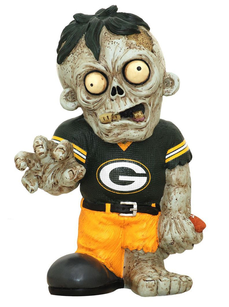 Green Bay Packers Zombie in Yellow Jersey FOCO Green Bay Packers Bobblehead