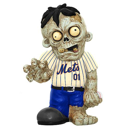 New York Mets Zombie in White Jersey FOCO Statue New York Mets Bobblehead