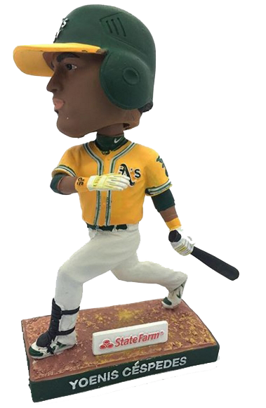 Yoenis Cespedes Oakland A's Athletics Bobble 2013 Oakland Athletics Bobblehead
