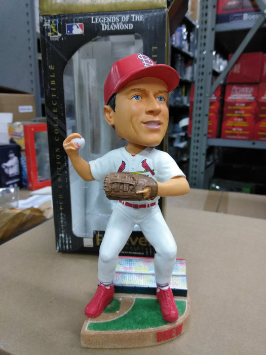 JD Drew St Louis Cardinals Forever Collectibles Legends of the Diamond, White Jersey, Full Size, Heavy Resin/ Ceramic Bobblehead MLB