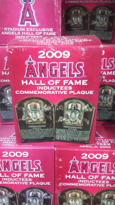 Brian Downing and Chuck Finley Angels HOF Plaque Los Angeles Angels Bobblehead