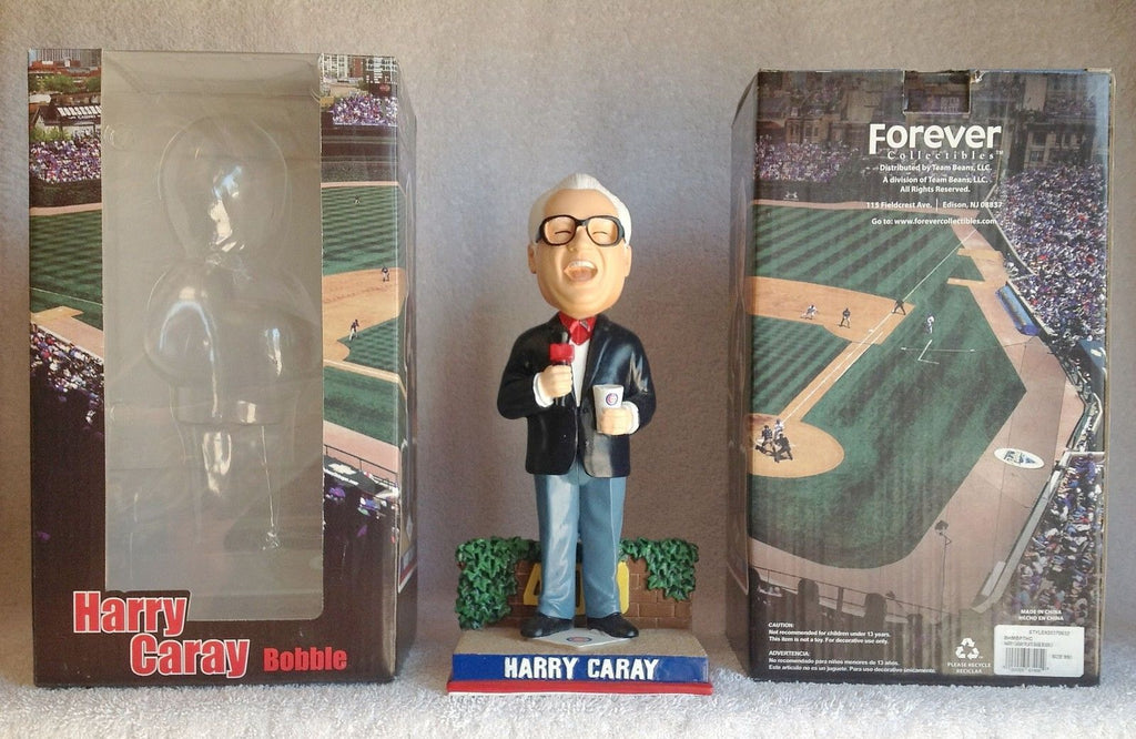 Harry Caray  Wrigley Bricks Ivy base Bobblehead MLB