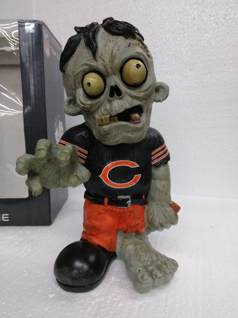 Zombie Chicago Bears Forever Nightmare, non-Bobble, 8 inches, Heavy Resin/ Ceramic Zombie