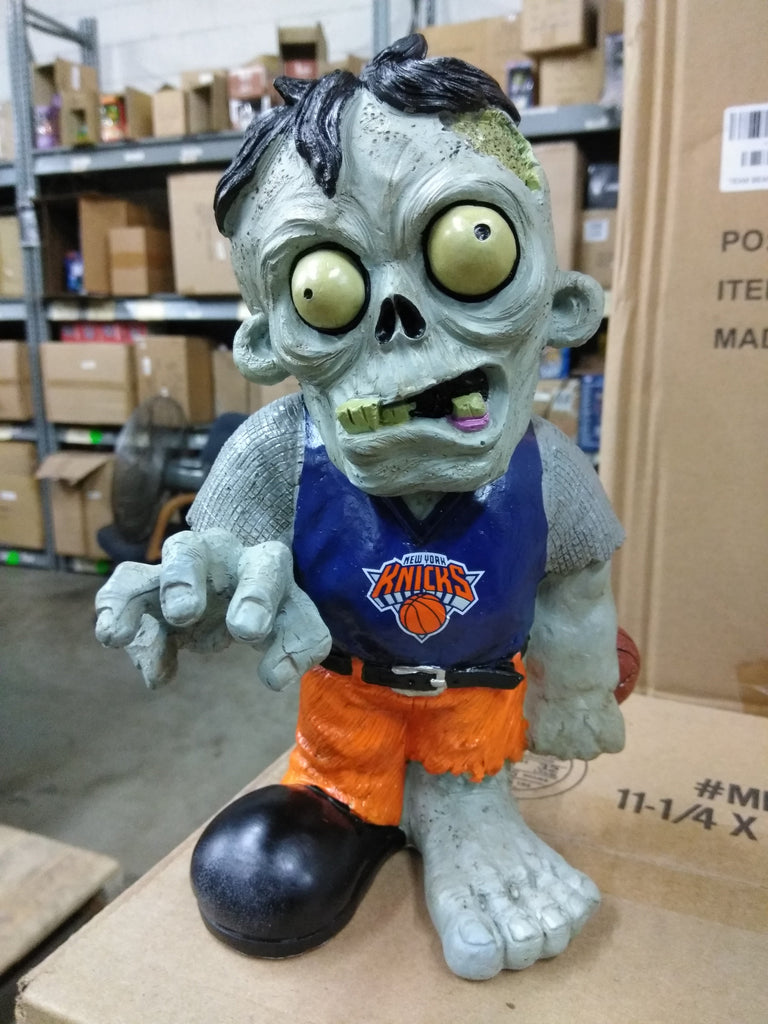New York Knicks Zombie in Blue Shirt Orange Pants New York Knicks Bobblehead