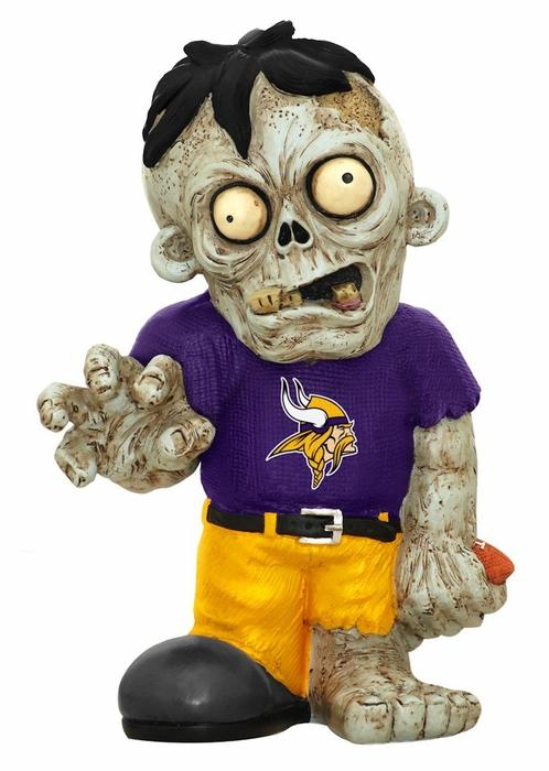 Minnesota Vikings Zombie Purple Shirt FOCO Statue Minnesota Vikings Bobblehead