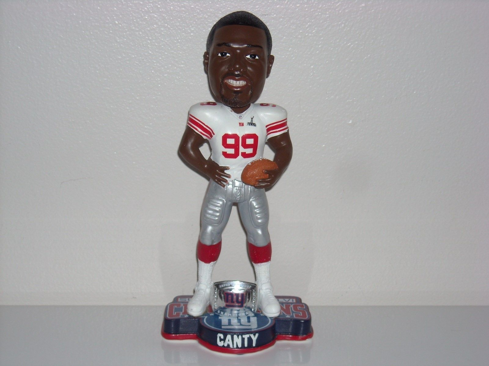 Chris Canty New York Giants SB 46 XLVI Bobble FOCO New York Giants Bobblehead