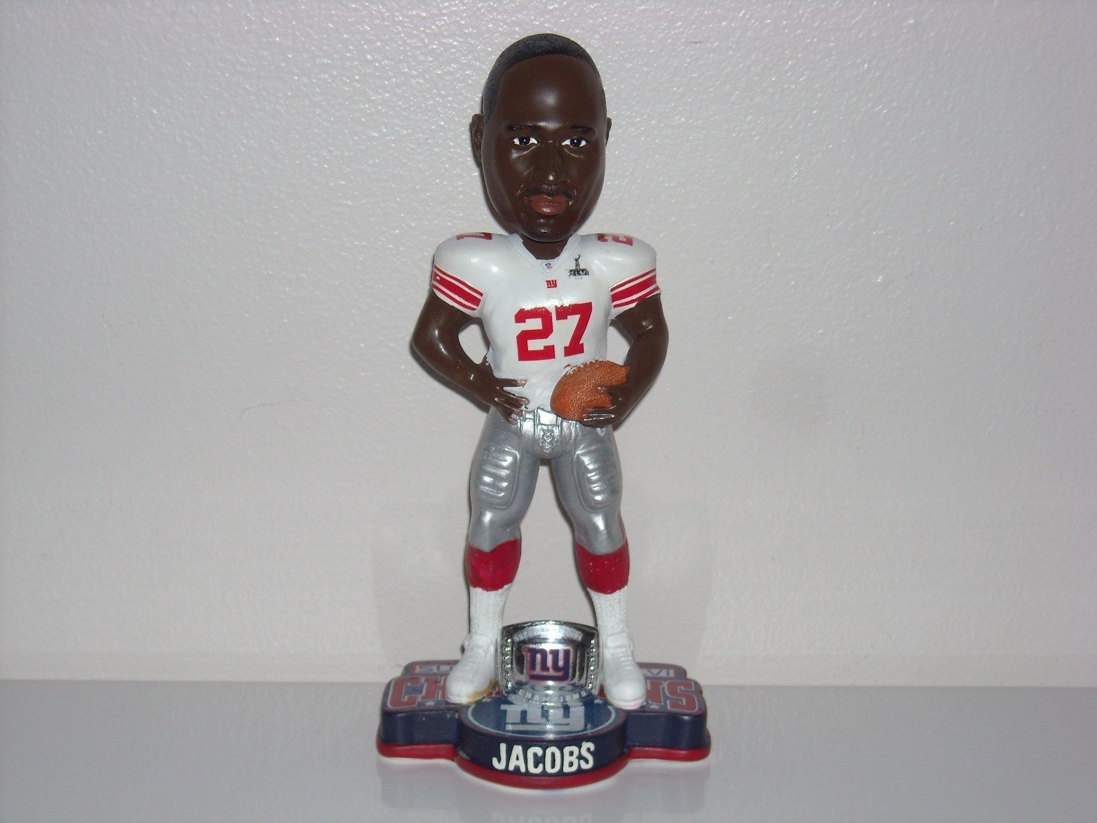 Brandon Jacobs NY Giants SB 46 XLVI Bobble FOCO New York Giants Bobblehead