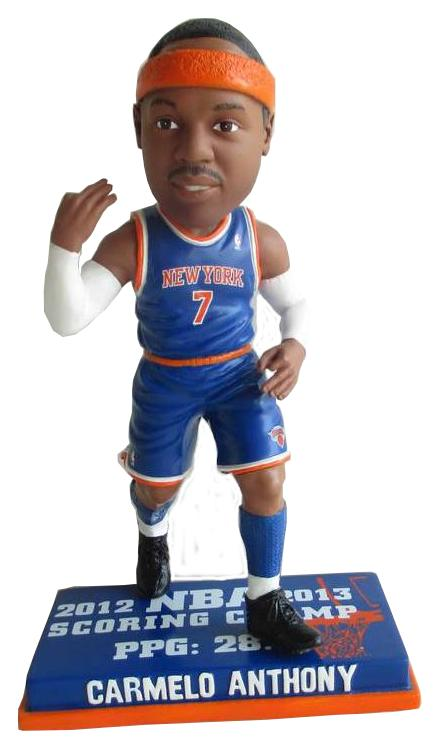 Carmelo Anthony NY Knicks '12 Scoring Champ Bobble Bobblehead