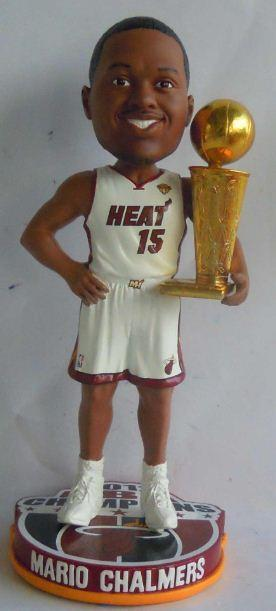 Mario Chalmers Miami Heat 2012 NBA Champion White Miami Heat Bobblehead