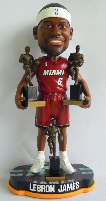 LeBron James Miami Heat 3x MVP Bobble /504 FOCO'12 Miami Heat Bobblehead