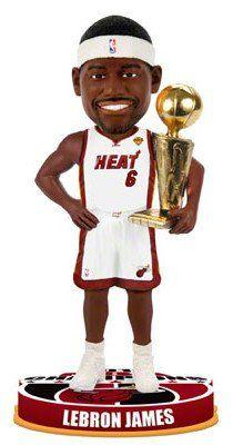 LeBron James Miami Heat 2012 NBA Champion White Miami Heat Bobblehead