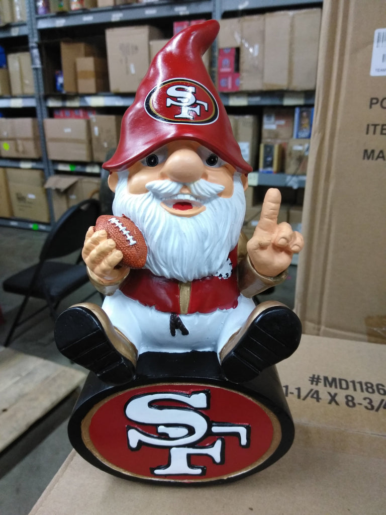 San Francisco 49ers Gnome sitting on SF team logo San Francisco 49ers Bobblehead