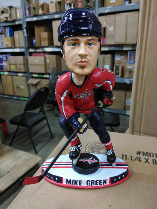 Mike Green Washington Capitals Bobble on Puck  Washington Capitals Bobblehead
