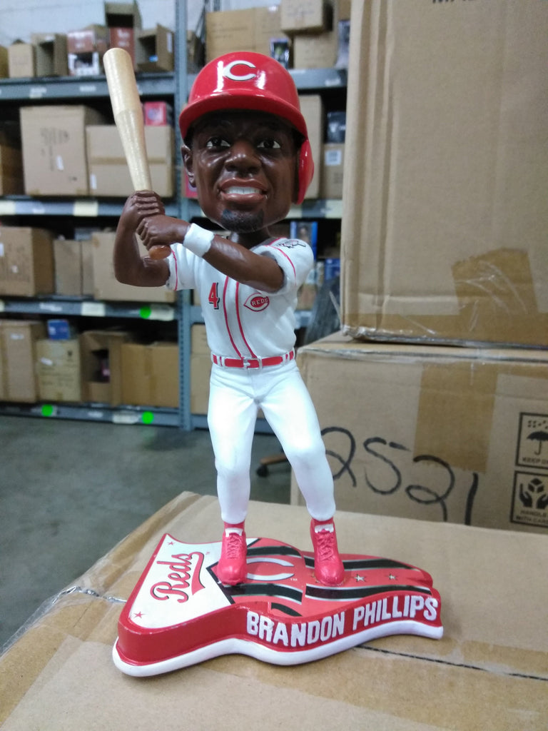 Brandon Phillips Cincinnati Reds Flag Base FOCO 13 Cincinnati Reds Bobblehead