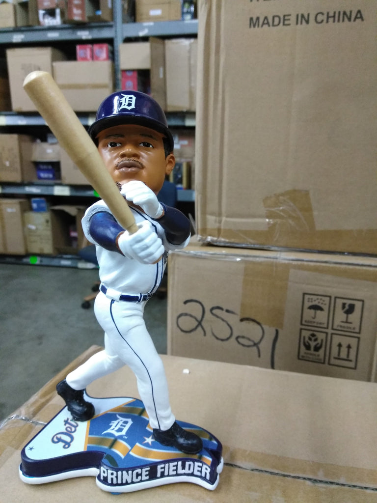 Prince Fielder Detroit Tigers Flag Base FOCO 2013 Detroit Tigers Bobblehead