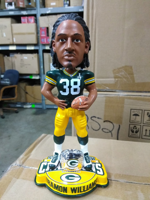 Tramon Williams Green Bay Packers Super Bowl 45 Bo Green Bay Packers Bobblehead