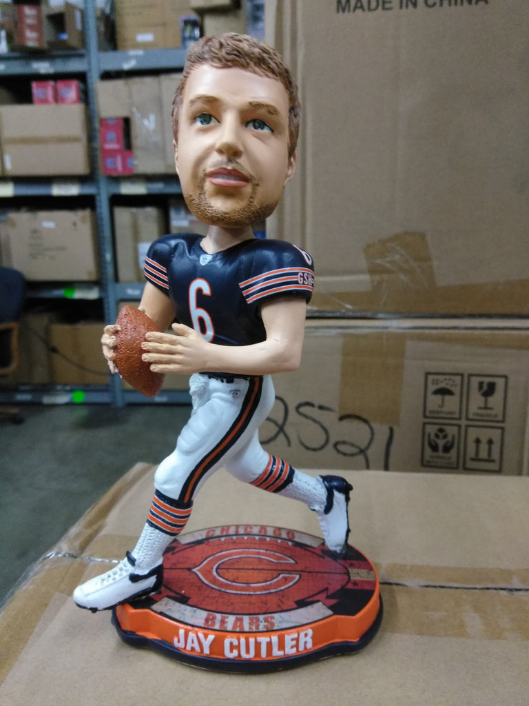 Jay Cutler Chicago Bears Logo Base QB Bobble Chicago Bears Bobblehead