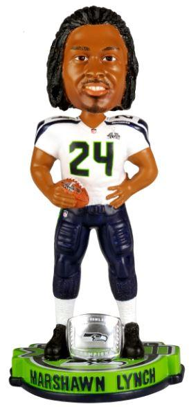 Marshawn Lynch Seattle Seahawks SB XLVIII Bobble Seattle Seahawks Bobblehead