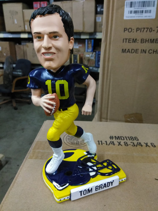 Tom Brady University of Michigan Helmet Base FOCO Bobblehead