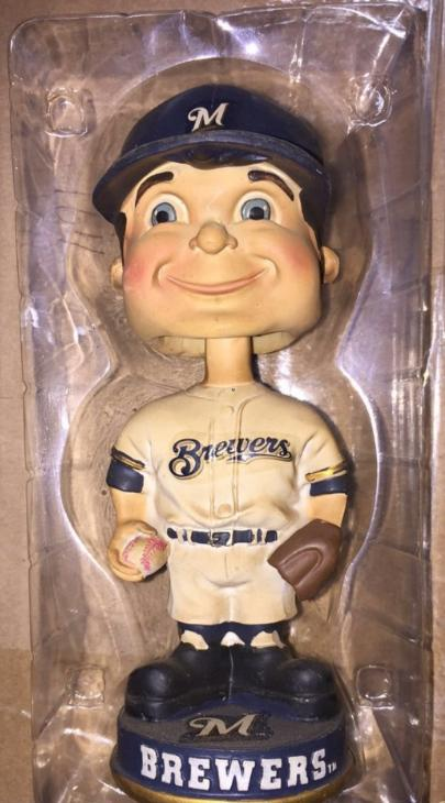 'Vintage Milwaukee Brewers Bobble FOCO Boy-Faced Milwaukee Brewers Bobblehead
