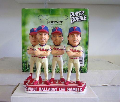 Halladay Lee Oswalt & Hamels Phillies 4 Aces FOCO Bobblehead