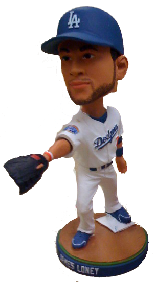 James Loney LA Dodgers bobble This is my Town '10 Los Angeles Dodgers Bobblehead