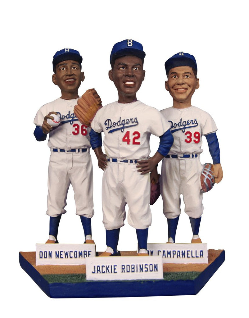 Jackie Robinson Don Newcombe Roy Campanella Statue Bobblehead