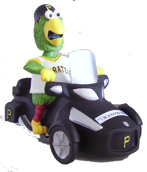 Parrot The Pittsburgh Pirates Mascot on ATV Bobble Pittsburgh Pirates Bobblehead