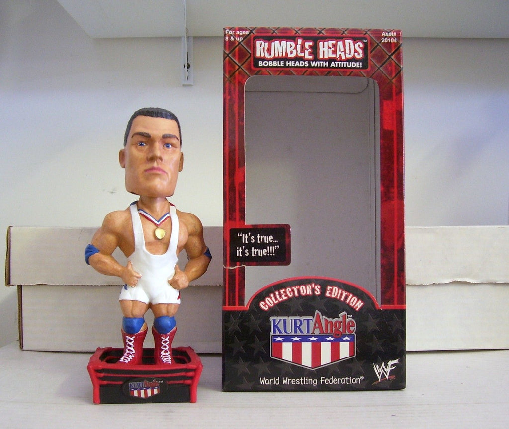 Kurt Angle Olympic Gold WWE WWF Bobble Rumble Head USA Bobblehead