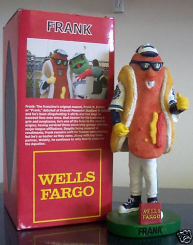 Frank The Hot Dog Aqua Sox Bobble SGA Mascot  Everett Aqua Sox Bobblehead