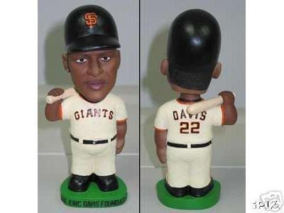 Eric Davis Foundation San Francisco Giants Bobble Bobblehead