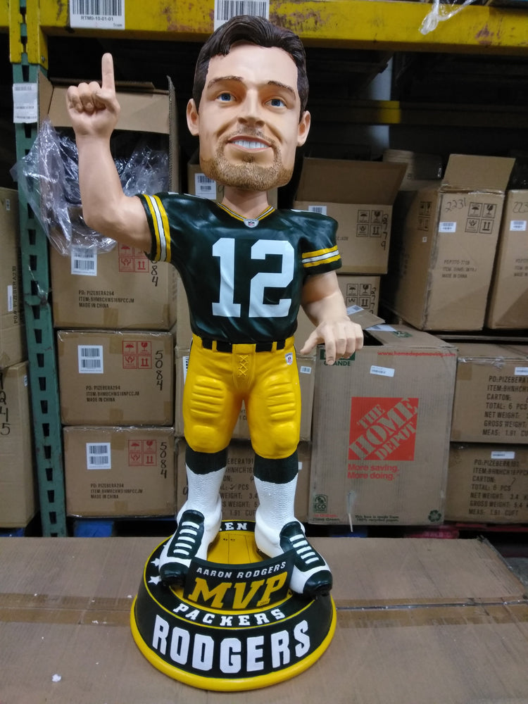Aaron Rodgers Green Bay Packers 3 foot, Heavy Resin/ Ceramic, Only 50 made Bobblehead NFL