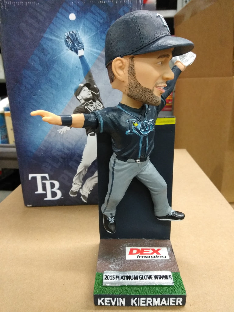 Kevin Kiermaier Platinum Glove Wall Catch Bobble Bobblehead
