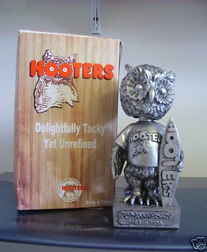 Hooters 2003 20th Anniversary Mascot Pewter Bobble  Bobblehead