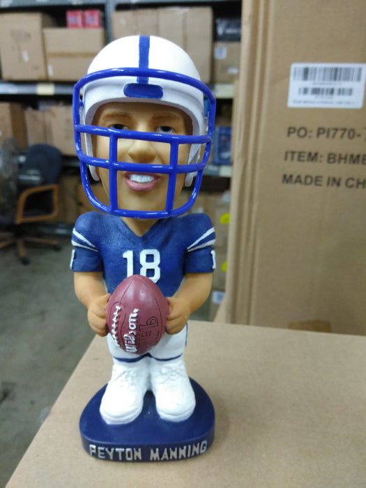 new products 0f8a1 c301b Peyton Manning Bobble Dobbles Blue Jersey Indianapolis Colts Bobblehead