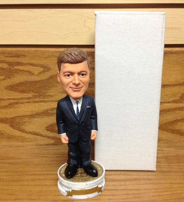 John F Kennedy  White circle base with gold top Bobblehead USA