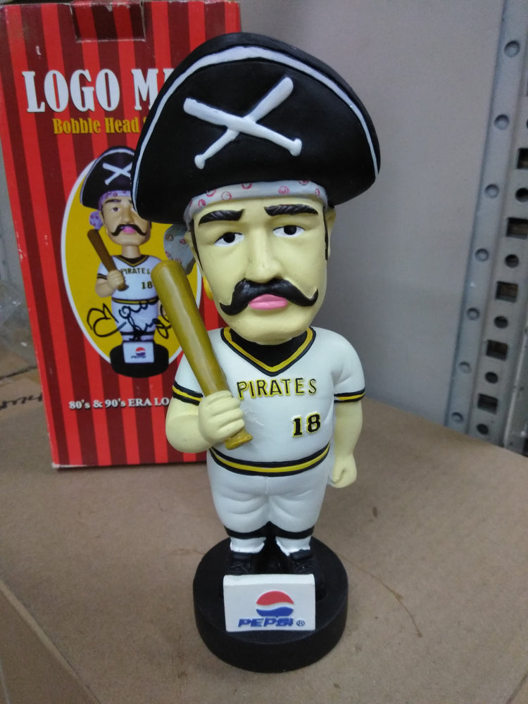 LOGO MAN #18 80S 90S ERA PIRATES Bobblehead