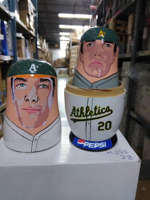 Oakland A's Athletics Nesting Dolls 2003 SGA Pepsi Oakland Athletics Bobblehead