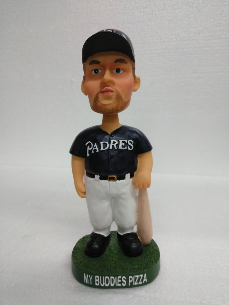 BURROUGHS #21 MY BUDDIES PIZZA PADRES Bobblehead