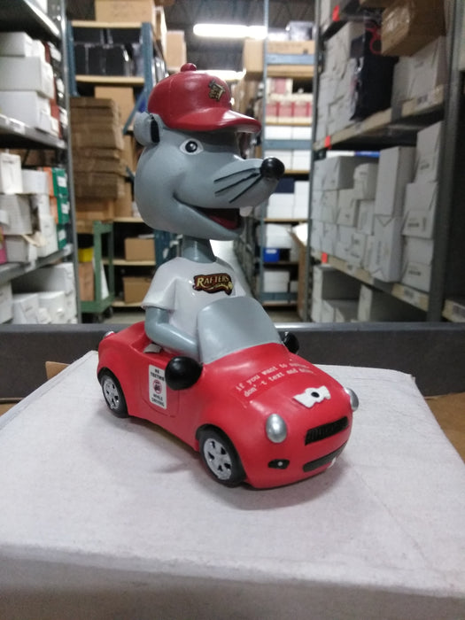 Rosco P. Rafter Wisconsin Rapids Mascot Driving Bobblehead