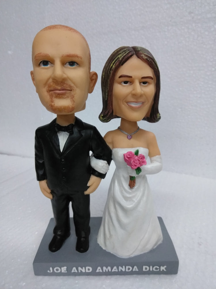 JOE AND AMANDA DICK WEDDING Bobblehead