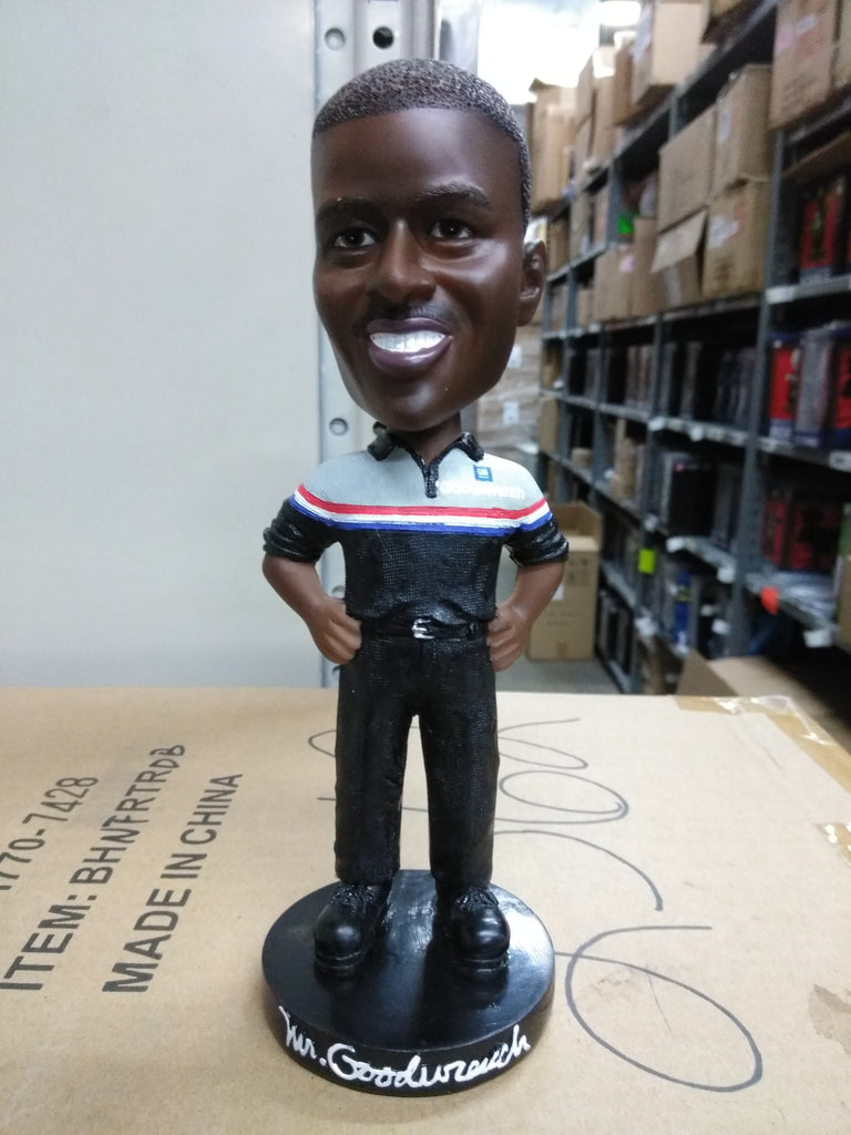 MR GOODWRENCH - African American All White Box Bobblehead