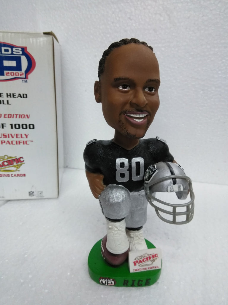 JERRY RICE #80 PACIFIC TRADING CARDS RAIDERS Bobblehead