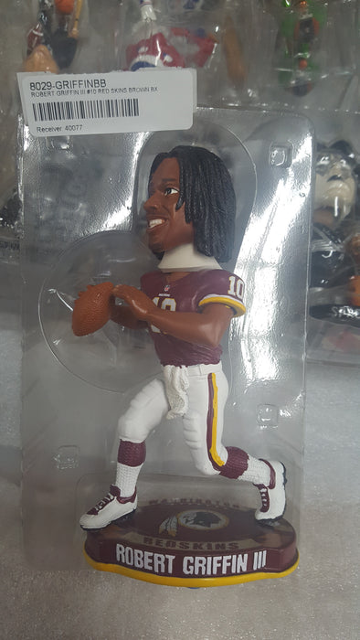 ROBERT GRIFFIN III #10 RED SKINS BROWN BX Bobblehead