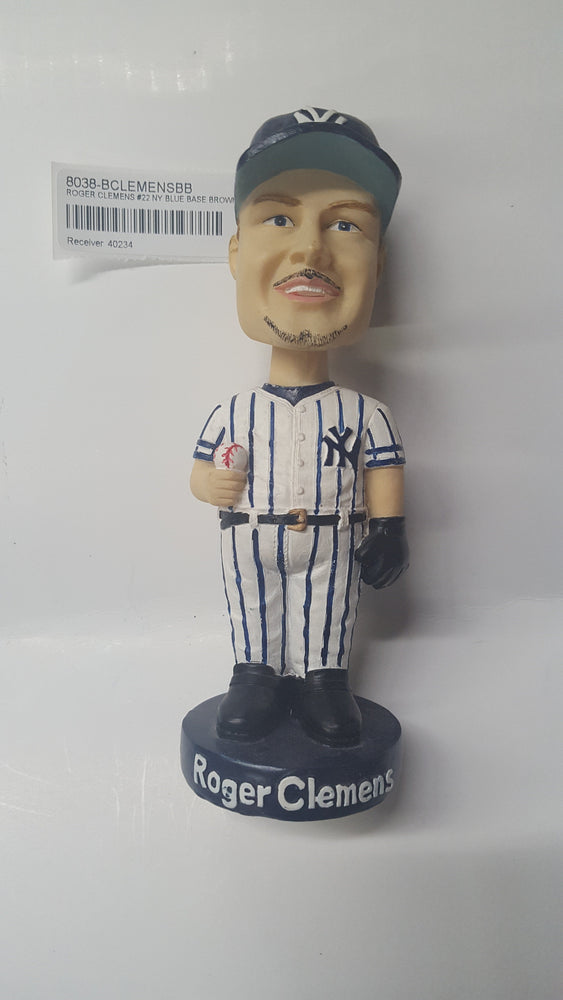 ROGER CLEMENS #22 NY BLUE BASE BROWN BX Bobblehead