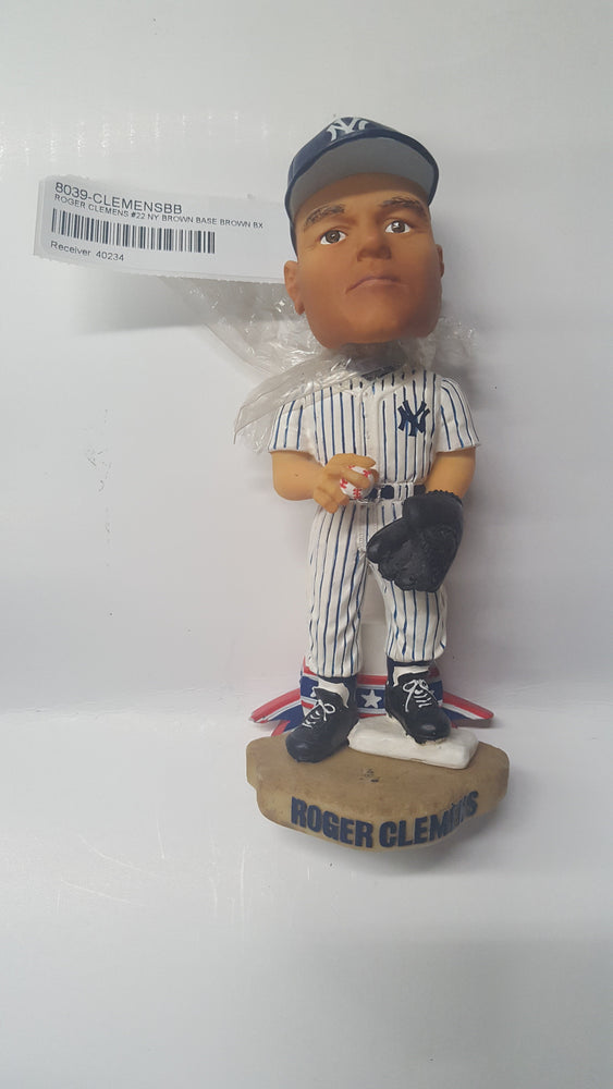 ROGER CLEMENS #22 NY BROWN BASE BROWN BX Bobblehead